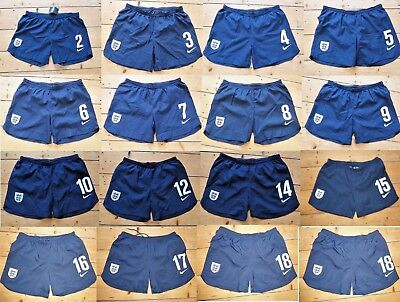 ENGLAND football SHORTS (B) Rare Match Issue Lined Soccer Shorts Swimming Trunks