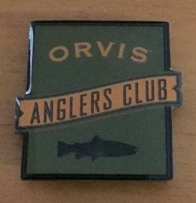New ORVIS Anglers Club Trout Pin Badge Magnet
