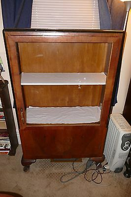 Beautiful Art Deco antique general store display cabinet w/ glass front & sides!
