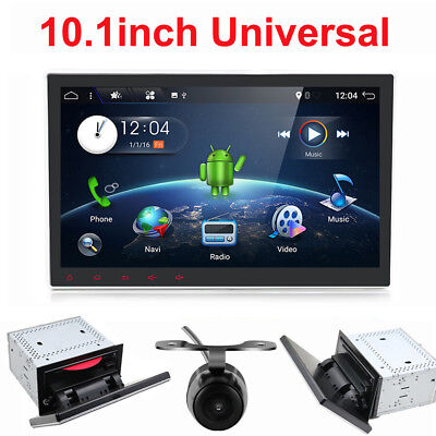 """10.1"""" Android 7.1 Autoradio Doppel 2DIN CD DVD Player Rotatable Full Touch USB"""