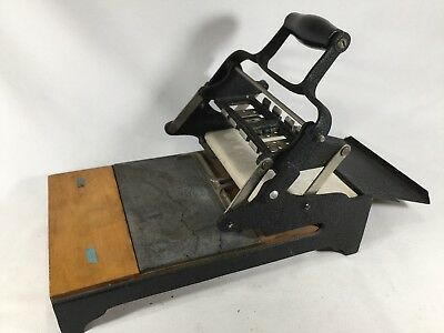 Vintage 3 1/2 x 5 Tabletop Desk Postcard Card Letter Printing Press