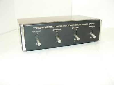 VTG Radio Shack Realistic Stereo High-Power Remote Speaker Switch 40-135 JAPAN