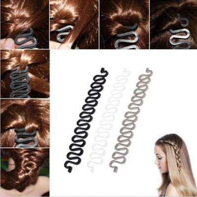 1X Magic French Hair Braider Centipede Ponytail Bun Braided Holder Twist Braid k