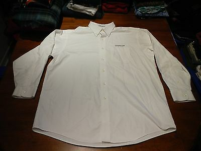 ll bean zeppelin embroidered wrinkle resistant button front shirt mens 16 1/2x32