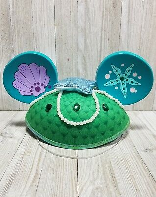 Disney Parks Ariel Little Mermaid  Mickey Mouse Ears Hat Adult Size NEW