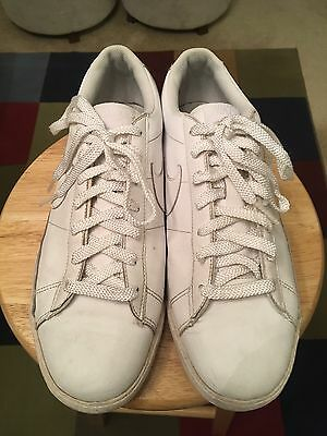 61a50f80412d Nike Match Supreme Men s White US13 Leather Athletic Sneakers Shoes  315876-113