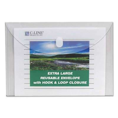 C-Line® Reusable Poly Envelope, Hook and Loop Closure, 9 3/8 x 13 038944351070