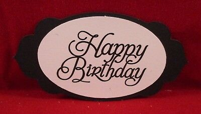 10 Happy Birthday Sentiment Label Die Cuts..........style 4........cardmaking