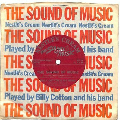 "Billy Cotton And His Band - The Sound Of Music - 7"" Record Single"