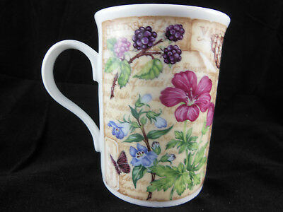 Fine Bone China Mug Cup Floral Shell Butterfly Apple Berries  Crown Trent