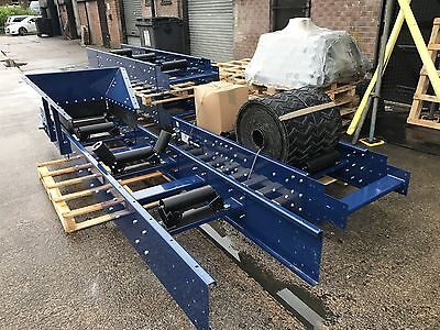 Conveyor system, Heavy duty 600mm wide x 4 meters long NEW Builds 3 phase