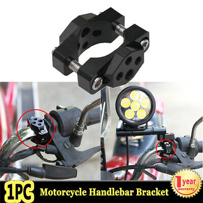 1X Motorcycle Bicycle Handlebar Mount Bracket Holder Clamp for LED Light Phone