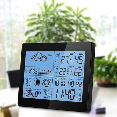 Digital LCD Wireless Weather Station Sensor Calendar Thermometer Home Outdoor UK