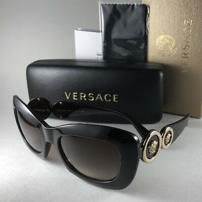 741552b1544 New VERSACE Sunglasses MOD.4328 5212 13 Tortoise Gold Medusa 54-20 Brown