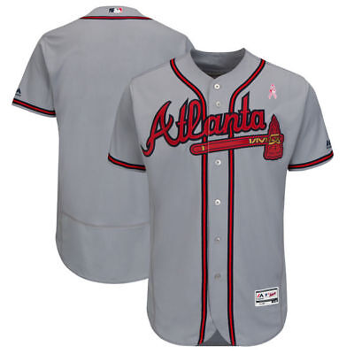 huge selection of 02d53 0bcae MLB Majestic Atlanta Braves Baseball Jersey New Sizes Road Flex Base Team