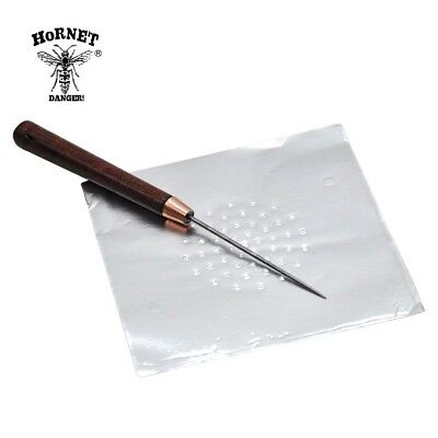 HORNET Hookah Aluminum Foil Puncher With Wood Handle Single Needle Piercing Tool