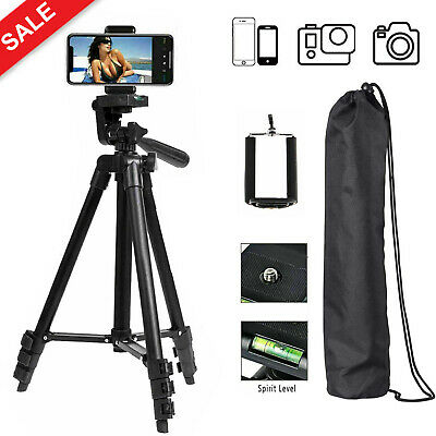 Professional Camera Tripod Stand Holder with Bag for iPhone Samsung Cell Phone