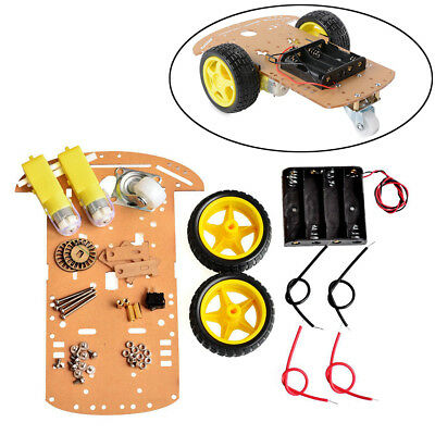 2WD Motor Smart Robot Car Chassis Kit Speed Encoder Battery Box NEW