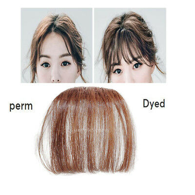 Head Front of Human Hair Fringe Fashion Style Air Bangs Clip in Hair Tools