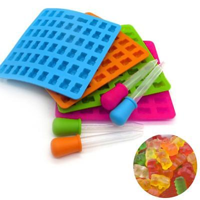 53 Cavity Chocolate Ice Tray Bear Silicone Maker Candy Mold Gummy Jelly Mould