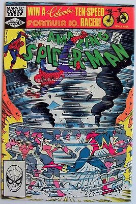 "Amazing Spider-Man #222-Marvel, Nov. 1981-""Faster Than The Eye!""-VF/VF+"