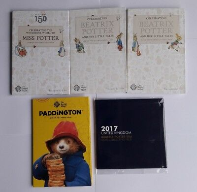 2016 2017 2018 Beatrix Potter, Paddington 50p Coin Album folder collecting pack