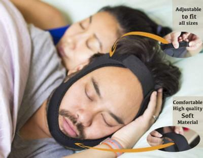 Fully Adjustable Anti-Snore Chin Strap - Natural and Instant Snore Relief - Aid