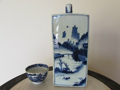 Late Transitional Early Kangxi Blue & White Master of the Rocks Wine Bottle