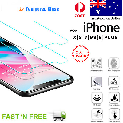 Anti Scratch Tempered Glass Screen Protector iPhone 11 Pro Max Xs XR 8 7 6Plus