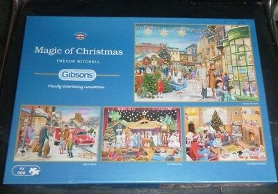GIBSONS JIGSAW PUZZLE 4 in 1 500 PIECES