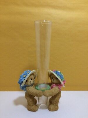 Cherished Teddies Club 10th Anniversary 2003 Club Exclusive Vase #865060 * (WA)