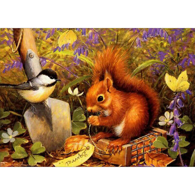 DIY Diamond Painting 5D Embroidery Full Drill Home Art Decor Squirrel and Bird