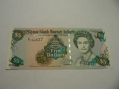 Banknote Cayman Insel  5 $  1996