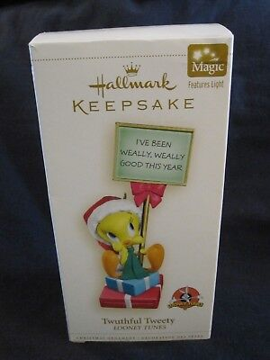 """Twuthful Tweety"" Looney tunes ornament, Hallmark 2006"