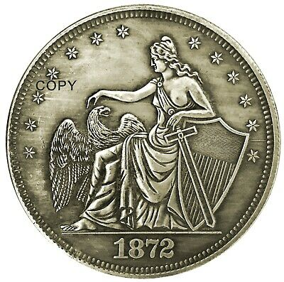 Naked Liberty Dollar Heads Tails Good Luck Token Challenge Coin Gift for Man