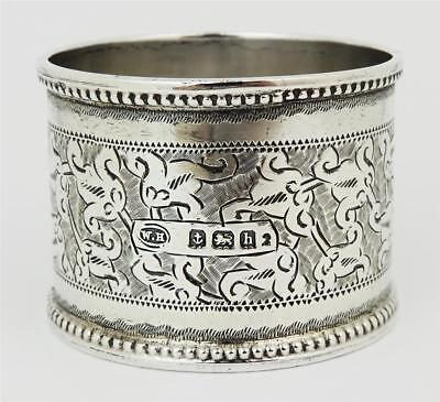 Quality Antique EDWARDIAN STERLING SILVER NAPKIN RING Birmingham 1907