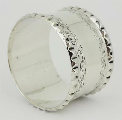 Lovely Antique EDWARDIAN STERLING SILVER NAPKIN RING Birmingham 1907
