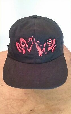 Vintage Red Wolf Beer Baseball Cap One Size Black With Red Stitching Nwot