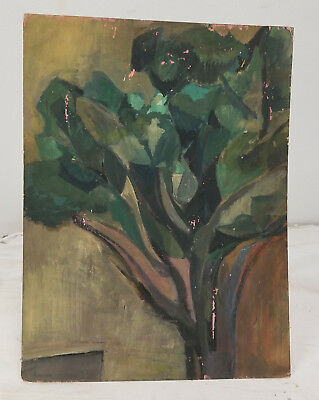 Antique Vintage MCM Modern Abstract Painting SIgned Harriet Holden
