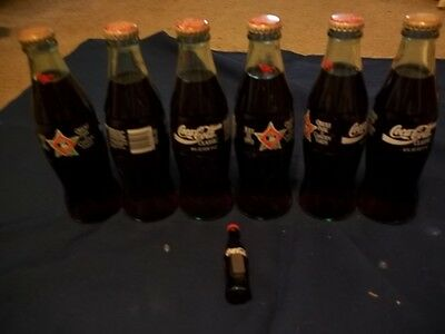 6 Coca Cola Classic collectible bottle July 13,1993, Oriole Park at Camden Yards