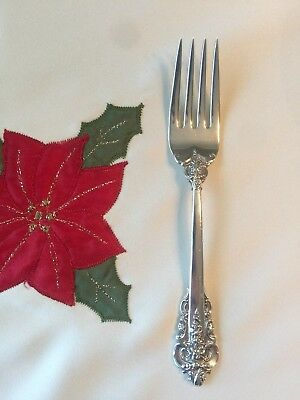 """NEW- Wallace Silversmiths Sterling Silver Grand Baroque Salad Fork  6 5/8"""""""