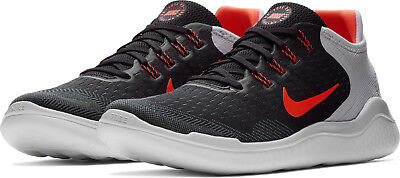 sports shoes 0d4e3 5ad28 Nike FREE RN 2018 Mens Black Red Grey 005 Athletic Training Runing Lace Up  Shoes