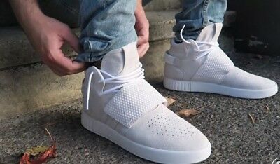 New Mens Tubular Invader Strap Yeezy Kayne West Suede Sneakers Shoes Bb5038