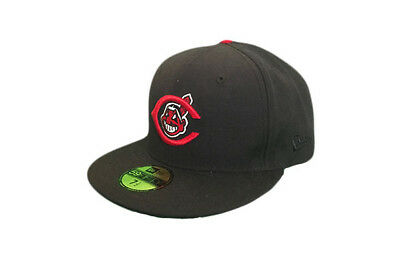 Cleveland Indians MLB Baseball Cap - New Era 59fifty Black