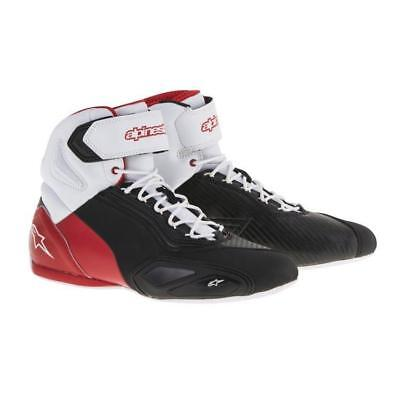 Alpinestars Faster 2 Shoe Blk/White/Red  (Size:6/6.5/7) PRE-SEASON CLEAROUT!