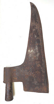 Antique Primitive goosewing Hand Forged Axe Head Hatchet Woodworking Tools Mark