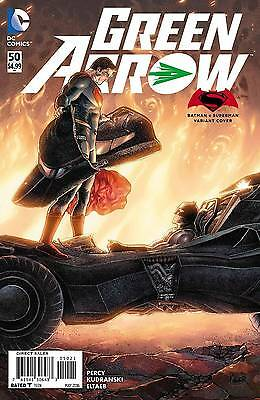 Dc Green Arrow #50 Comic Superman Vs Batman Variant Cover