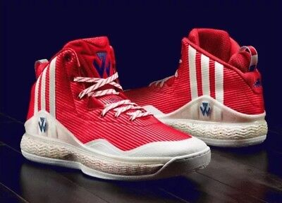 cheap for discount 676a7 15ddd ADIDAS JOHN WALL S84015 men s BASKETBALL SHOES RED WHITE 100% AUTHENTIC