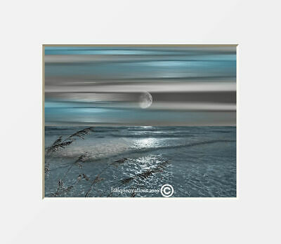 Blue Gray Coastal Wall Decor, Bathroom Bedroom Coastal Modern Wall Art Picure
