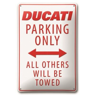 DUCATI Parking Only Reklame Blechschild Metallschild Schild Metal Sign NEU !!